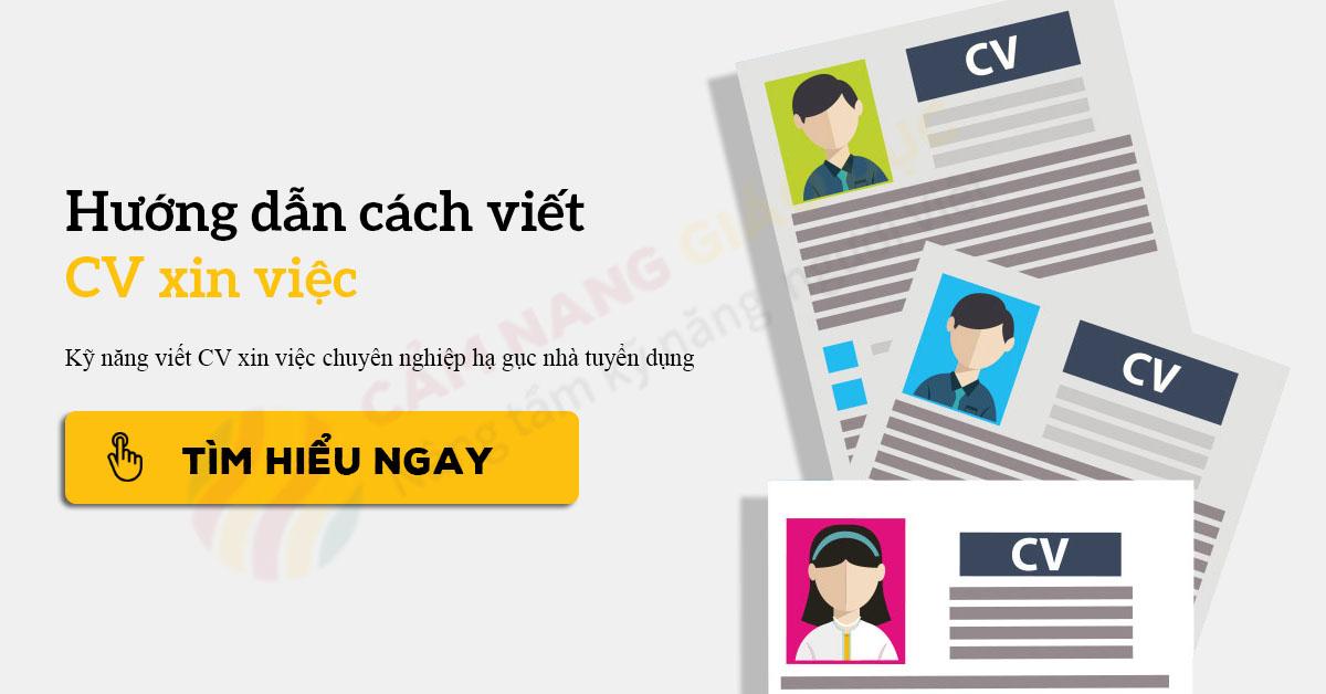 hướng dẫn viết cv xin việc marketing
