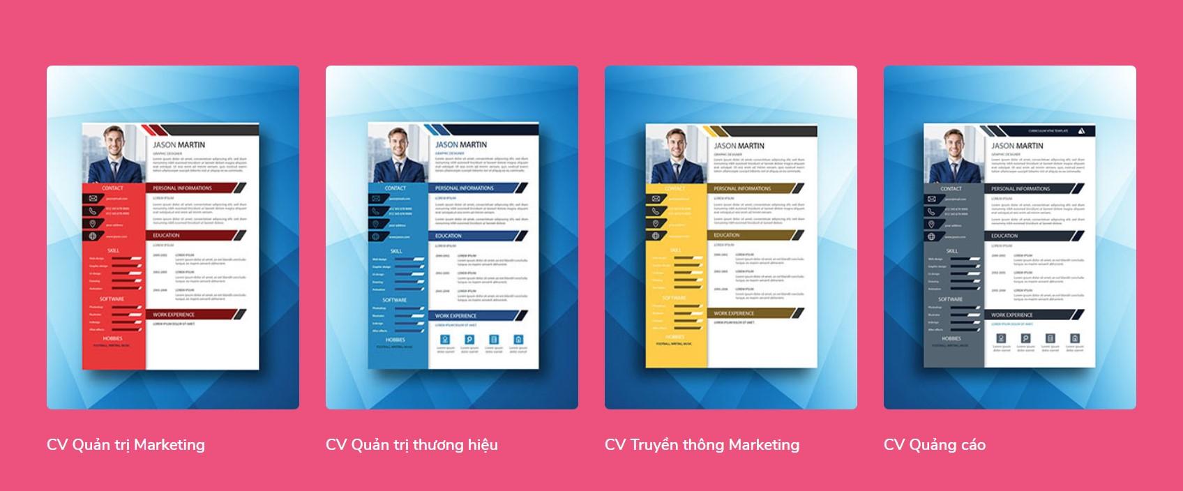 cv marketing cho sinh viên