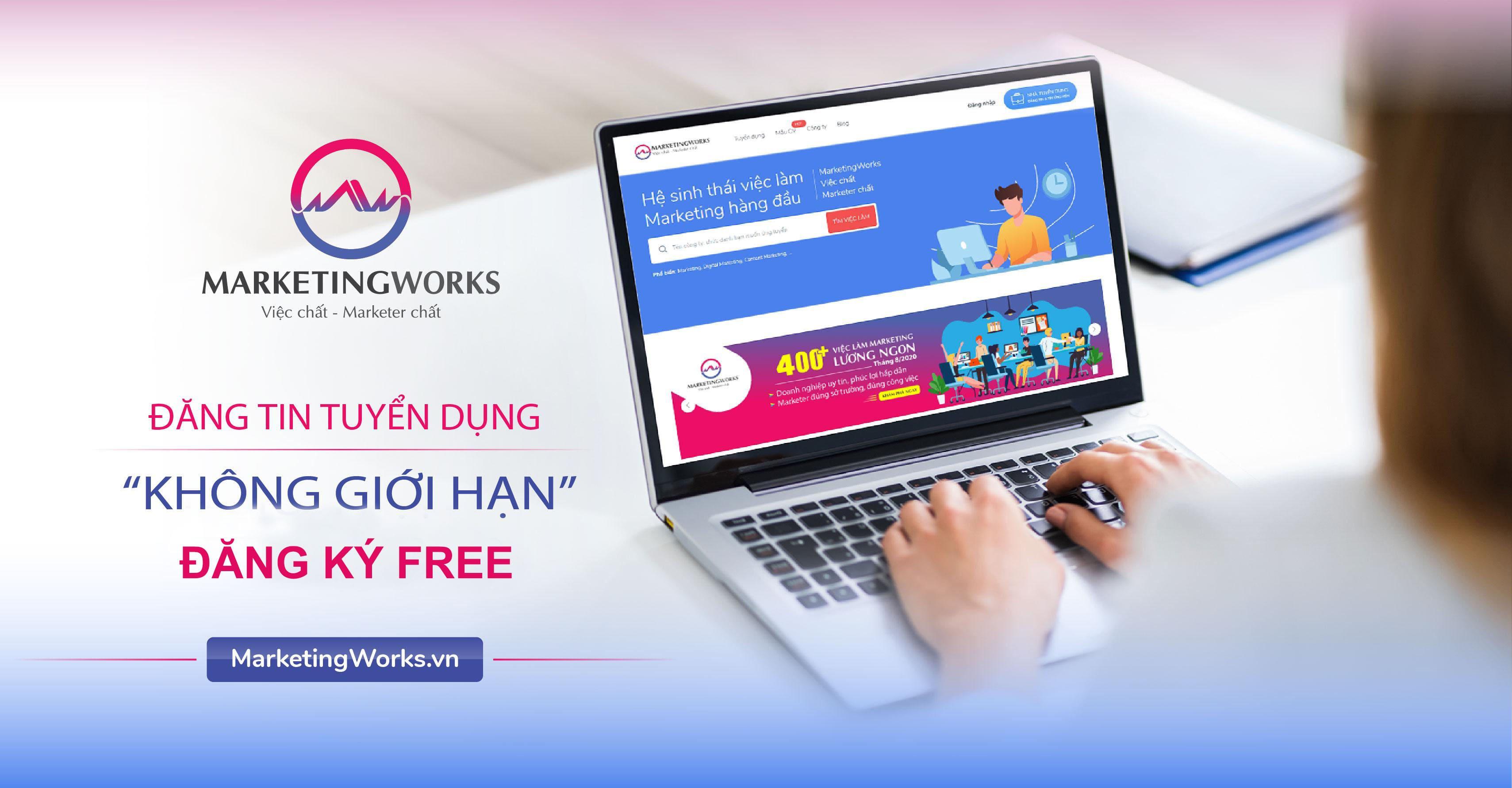 đăng ký tuyển dụng marketing free