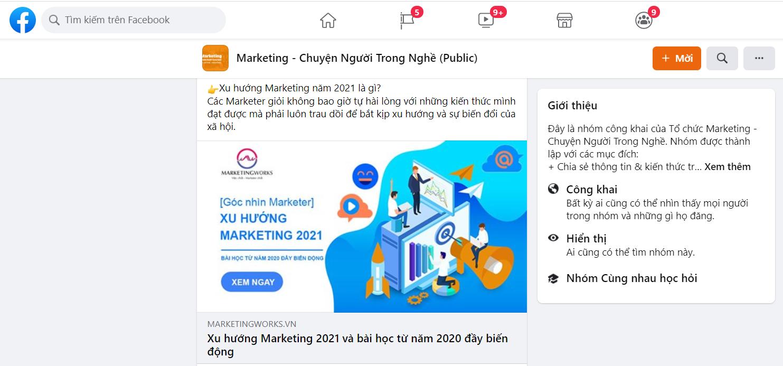 Cập nhật kiến thước Marketing