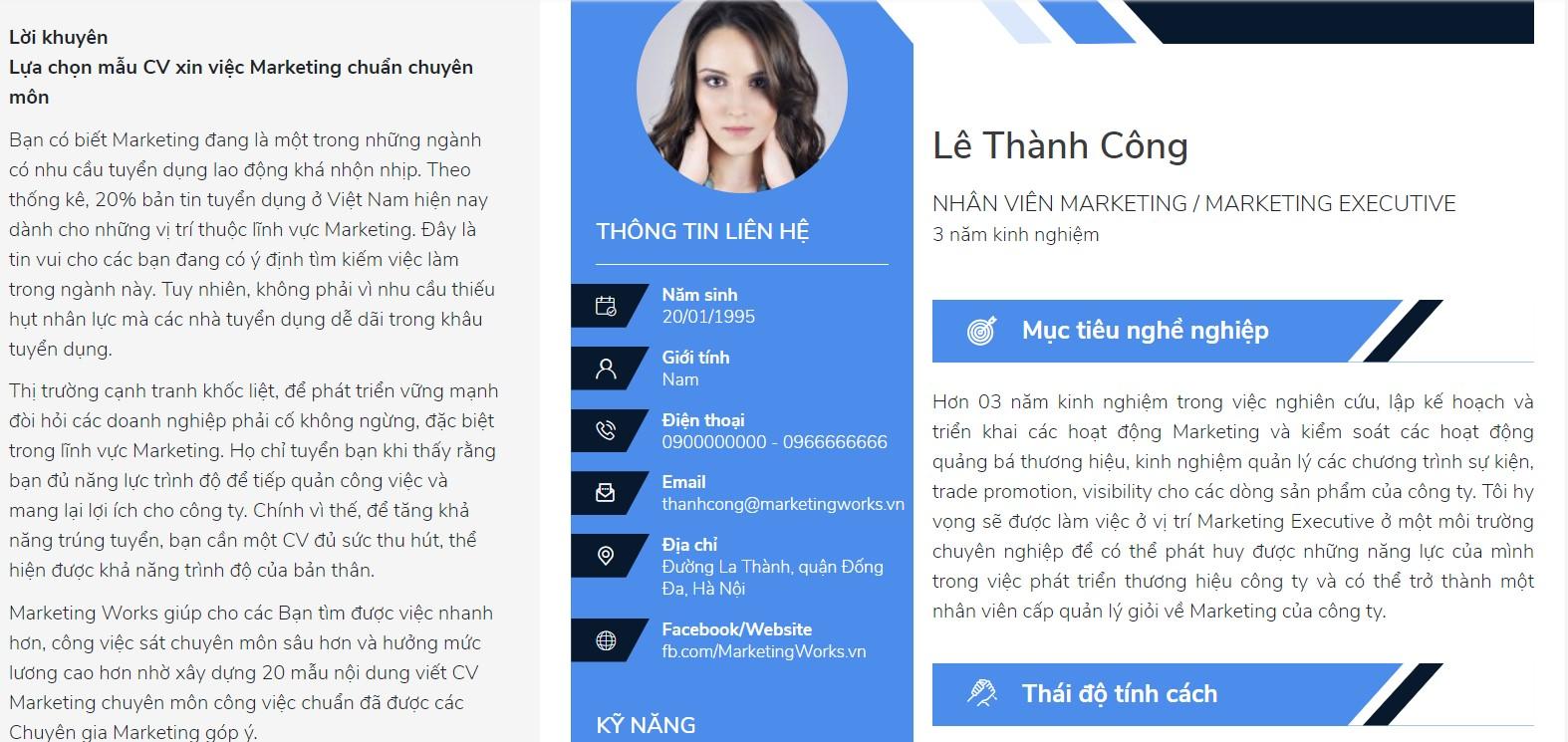 Chuan bi CV Marketing