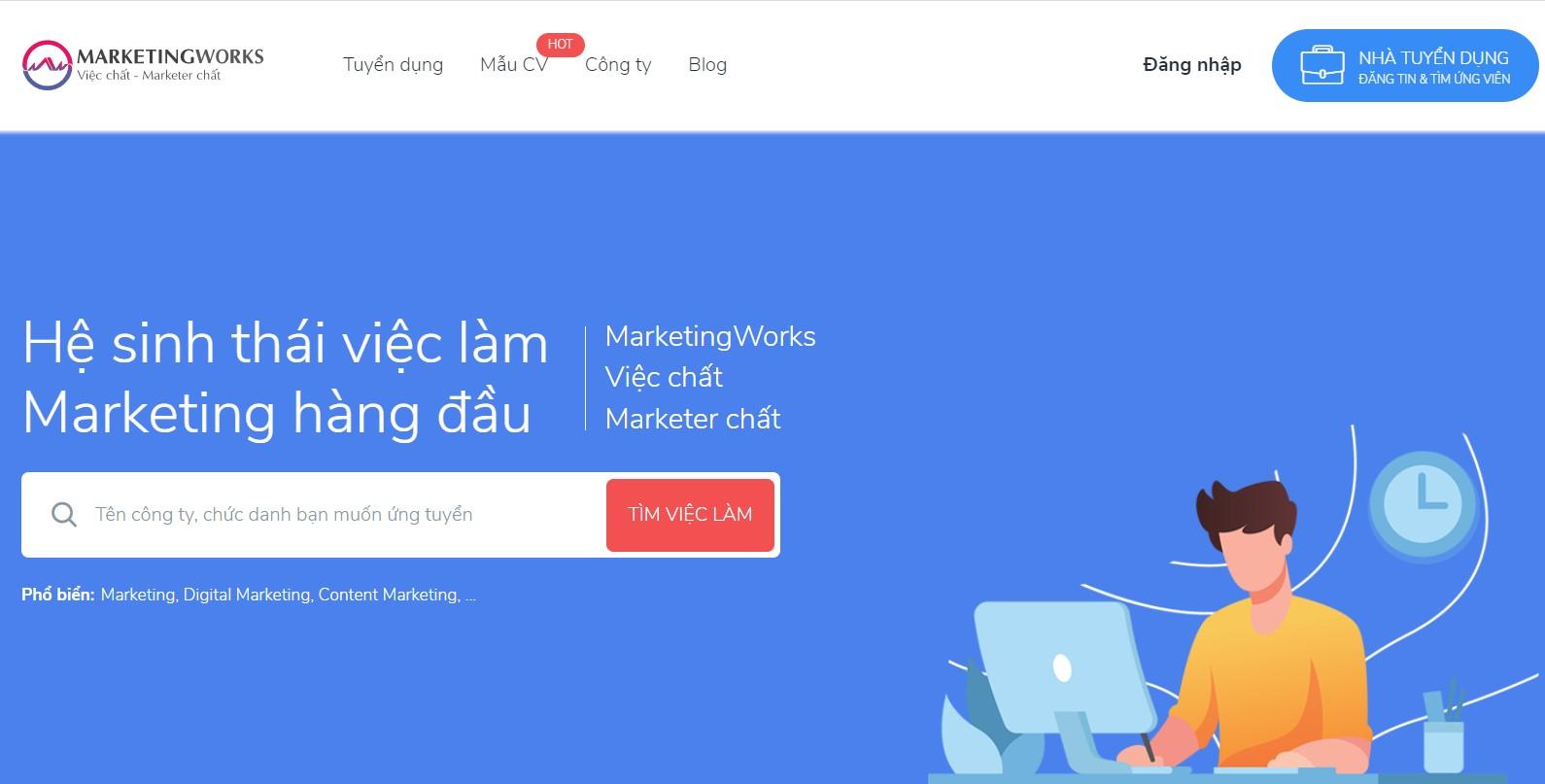 website tuyển dụng việc làm marketing